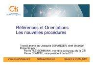 Références et Orientations Les nouvelles procédures - Commission ...