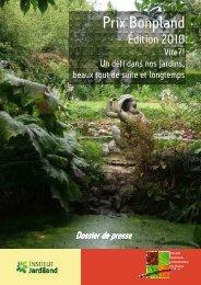 Les lauréats 2009 - 2010 - Société Nationale d'Horticulture de France