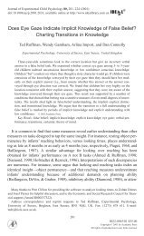 Journal of Experimental Child Psychology - of /courses
