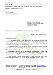 Lettre de la Présidente de la Fnai