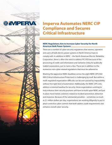 Imperva Automates NERC CIP Compliance and Secures Critical ...