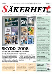 Utställare – Skydd 2008 - AR Media International AB