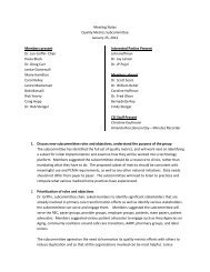 Meeting Notes Quality Metrics Subcommittee January 25, 2012 ...