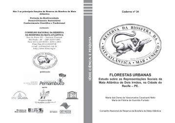 florestas urbanas - Reserva da Biosfera da Mata Atlântica