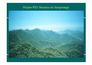 Projeto PEJ/ Mosaico do Jacupiranga - Reserva da Biosfera da ...