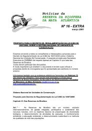 Noticias RBMA 16 Extra - Reserva da Biosfera da Mata Atlântica