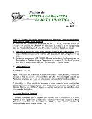 Noticias RBMA 04 (Fevereiro/2000) - Reserva da Biosfera da Mata ...