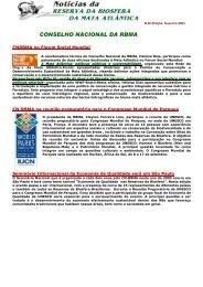 Noticias RBMA 28 (Fevereiro/2003) - Reserva da Biosfera da Mata ...