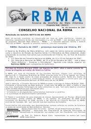 Noticias RBMA 48 - Reserva da Biosfera da Mata Atlântica