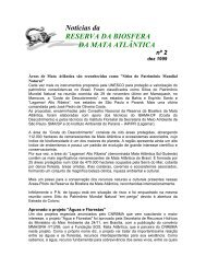 Noticias RBMA 02 (Dezembro/1999) - Reserva da Biosfera da Mata ...