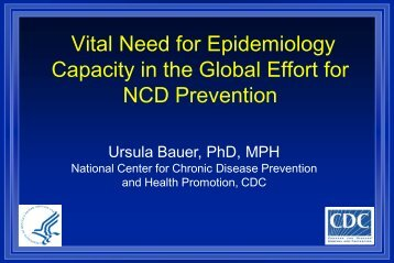 Presentation for NC Mtg. on Community based CVD ... - Library