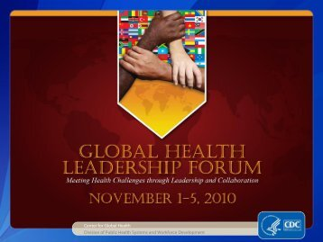 Center for Global Health Division of Public Health Systems ... - Library
