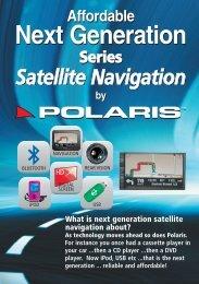 Affordable Next Generation Series Satellite Navigation ... - Polaris GPS