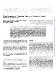 Direct Inoculation of Food as the Cause of an Outbreak of ... - Library