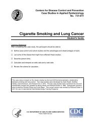 Cigarette Smoking and Lung Cancer - Library