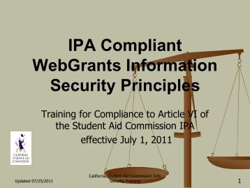 IPA Information Security Training - CSAC California Student Aid ...