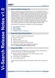 Vi-Search Version 1.0 Release Notes - Agent Vi