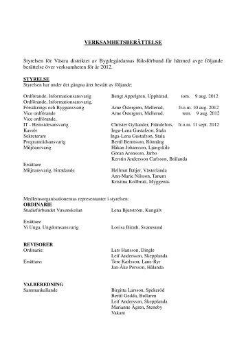 Verksamhetsberättelse 2012 - Bygdegårdarnas Riksförbund
