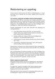 Redovisning av uppdrag - Bygdegårdarnas Riksförbund