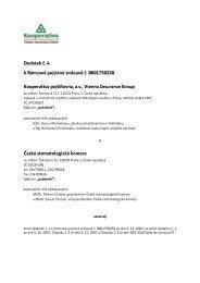 Dodatek č. 4 k Rámcové pojistné smlouvě č. 8601750250 ...