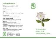 Förbundsstämma 2–3 juni 2012 Medborgarhuset i Säffle