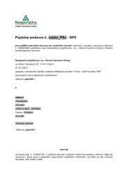 PDF, 146 kB - Kooperativa, pojišťovna, a.s.