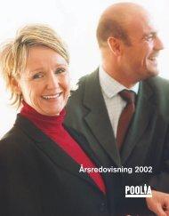 Ladda ner PDF-version av årsredovisningen 2002 här - Poolia