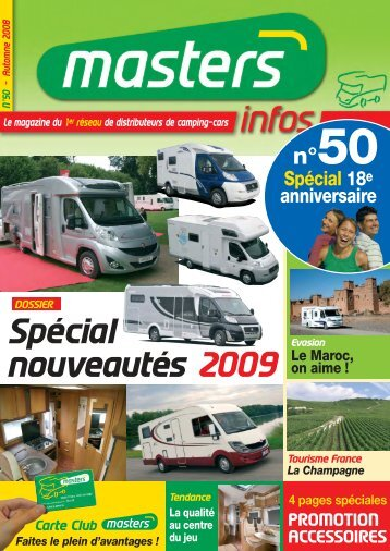 Masters-Infos - Queven Camping-cars