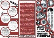 1998 ota lehetöséget ad azoknak a csoportoknak, melyek közös elvek