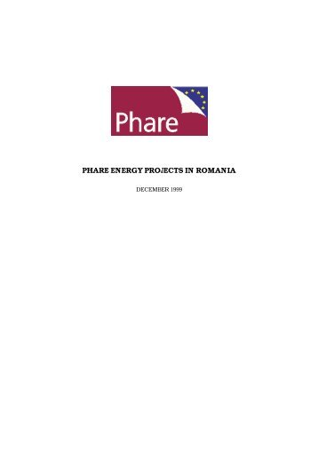 PHARE ENERGY PROJECTS IN ROMANIA