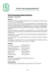 Verksamhetsberättelse 2011 - Bygdegårdarnas Riksförbund