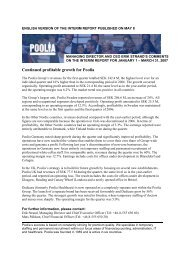 Continued profitable growth for Poolia
