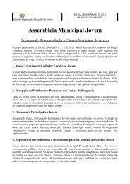 Assembleia Municipal Jovem - Câmara municipal de Aveiro