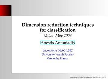 Dimension reduction techniques for classification - Bioconductor