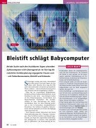 Bleistift schlägt Babycomputer