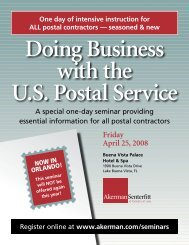 Doing Business with the U.S. Postal Service Seminar - Akerman