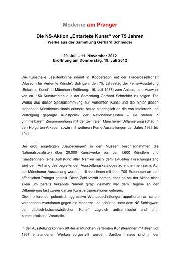 Pressetext Moderne am Pranger - in den Museen der Stadt ...
