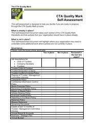 CTA Quality Mark Self Assessment form