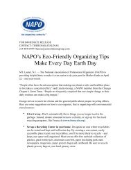 2009 Earth Day press release - National Association of Professional ...