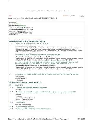 - 10/7/2010 https://www.e-licitatie.ro:8881/CA/Notice/CNotice ...