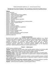 Všeobecné pojistné podmínky pro univerzální životní pojištění