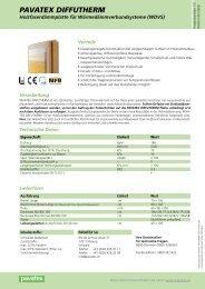 pavatex DIFFUTHERM 40mm - Datenblatt - Naturalia Bau
