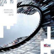 ANNUAL REPORT 2012 - Česká podnikatelská pojišťovna
