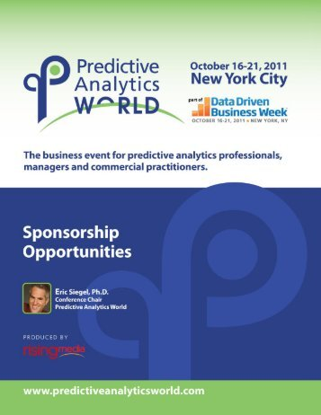 Download our Sponsorship Opportunities - Predictive Analytics World