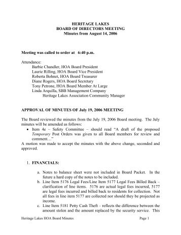 Hoa Minutes Template. annual meeting minutes template 6 free word ...