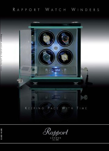 Download watchwinder catalogue - Rapport - Automatic Watch ...