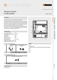 Dimmer actuator in DIN module