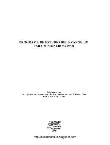 programa de estudio del evangelio para misioneros - Cumorah.org