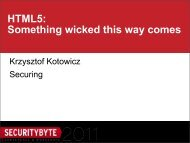 HTML5: Something wicked this way comes - Securitybyte