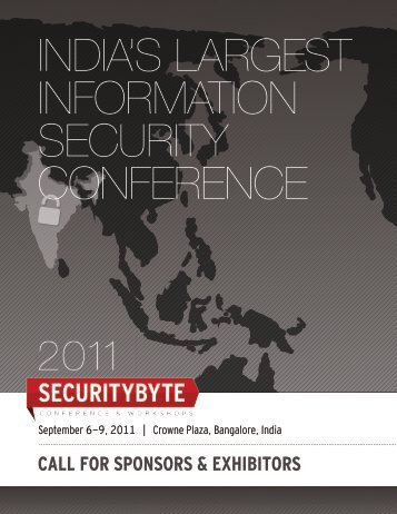 CALL FOR SPONSORS & EXHIBITORS - Securitybyte